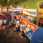Shapes Exhibit at Children's Museum Made with King ColorBoard® KPG Orange