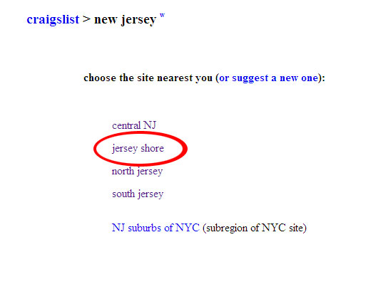 Craigslist And The Jersey Shore News Experience The Shore