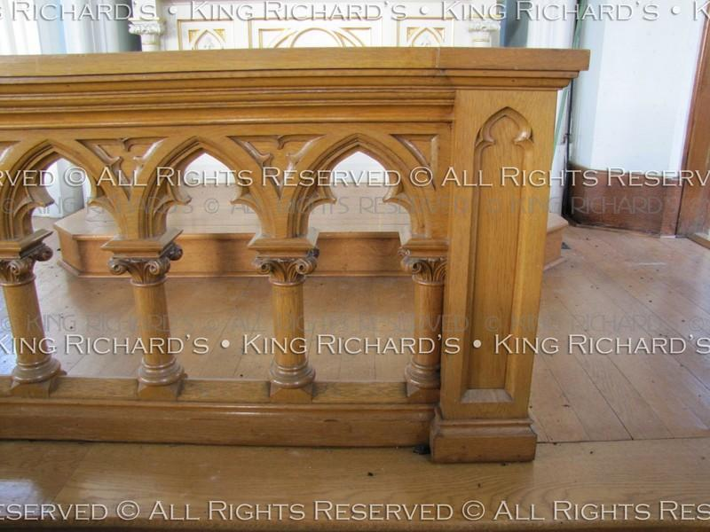 Altar Rails Antique Very Fine Hand Carved Gothic Oak