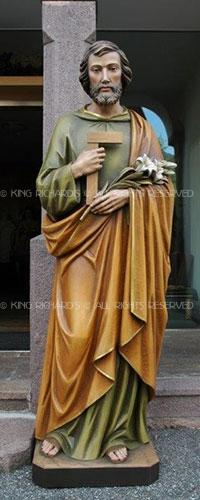 St Joseph New Hand Carved Marble Wood Or Bronze Statue