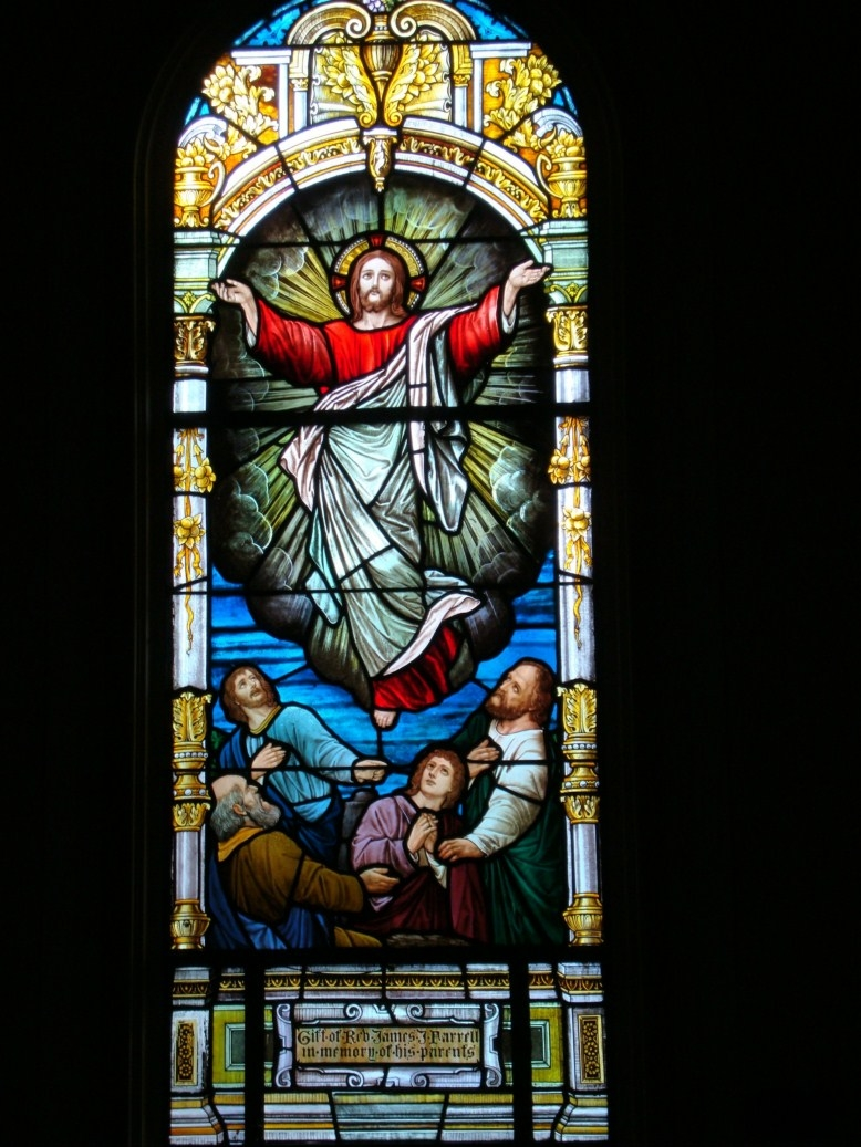 Antique Stained Glass Windows Full Sets Roman Nave Set