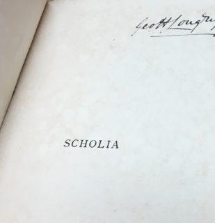 Scholia Longrigg