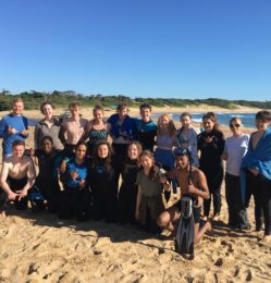 Beach – group photo – July 2018