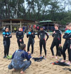 Beach – pre diving – July
