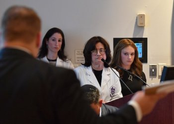 """Ezras Nashim application hearing story. Wednesday, October 30th 2019 PICTURED Jeffrey Reisner (attorney for HATZOLAH) questions Ezras Nashim leadership. 5PM at the NYC REMSCO Hearing the All-Mens EMT Corps called """"HATZALOH"""" will have group of men members and a Hasidic Rabbi who will be speaking to oppose the Ambulance for Ezras Nashim the All-Women's EMT Corp, it will be quite interesting to watch this debate and have a reporter cover this debate between Ezras Nashim the Women's EMT vs Hatzaloh the Mens EMT, they say the reason they oppose the ambulance is because it is not modest for Woman to drive an Ambulance, the Mens EMT Group wants the remsco board should vote to deny the Ambulance for the Women's EMT Group, the truth it that its a power struggle in the Orthodox Jewish community.   In 2011 the NY Post reported about the power battle between the Mens EMT Hatzalah and the Women's EMT Ezras Nashim,   The Hearing is open for the public and media, it will take place at Methodist Hospital, East Pavilion Auditorium, 506 Sixth Street, Brooklyn NY."""