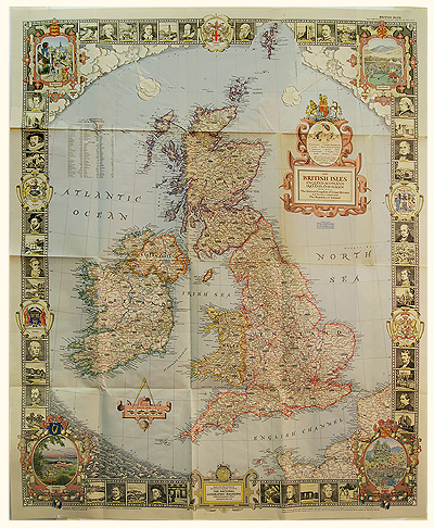The British Isles By Riddiford 1937