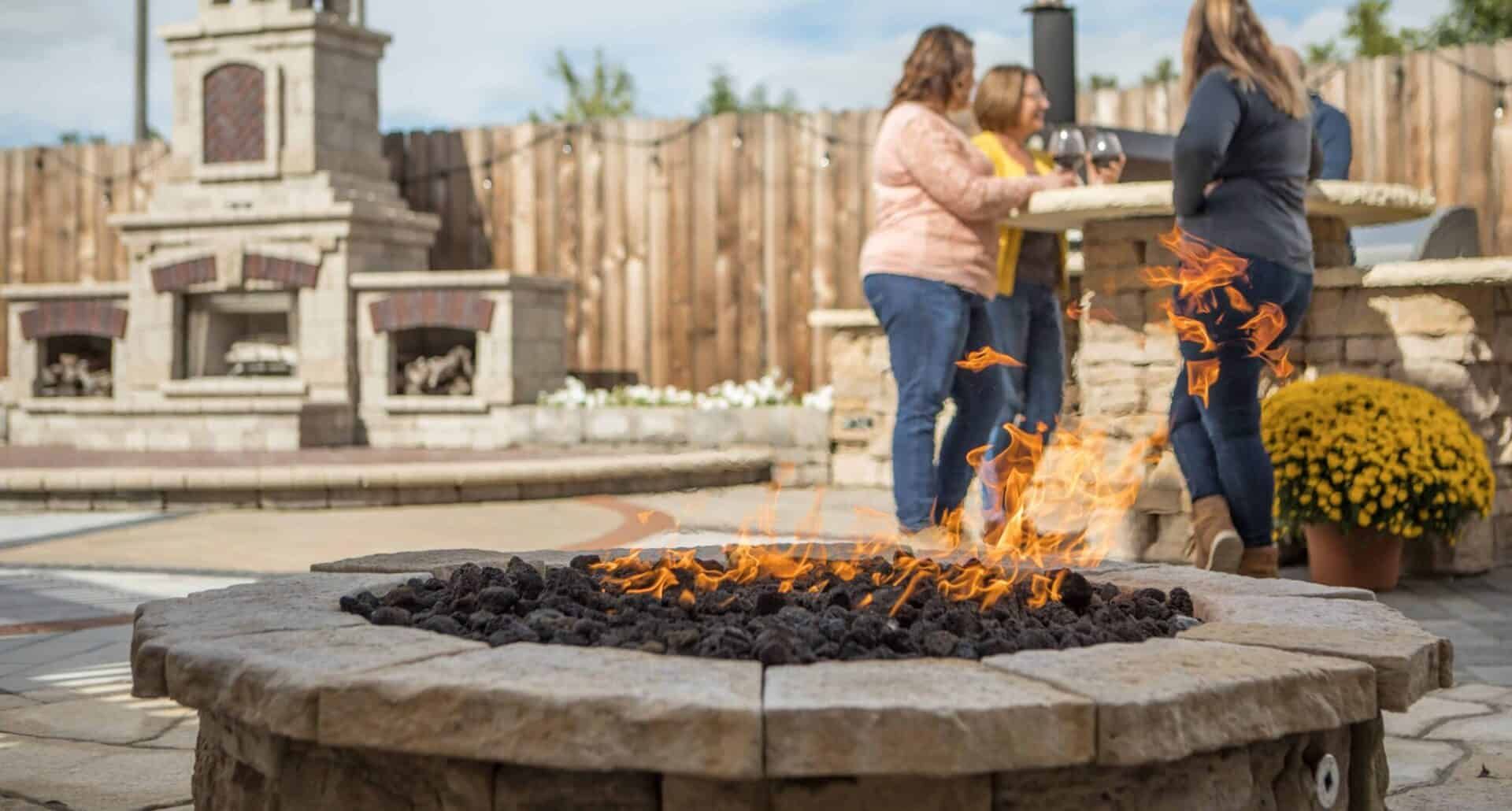 Stone Fire Pit - It's Built with Kings