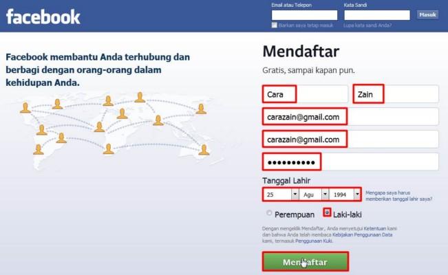 Daftar Akun Facebook Gratis