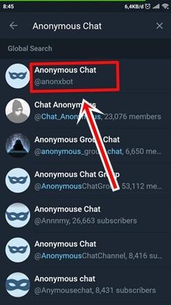 Cara Mencari Teman di Telegram Menggunakan Bot Anonymous