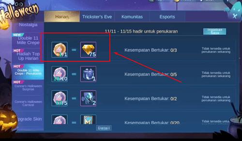 Kegunaan Diamond Kuning di Mobile Legends