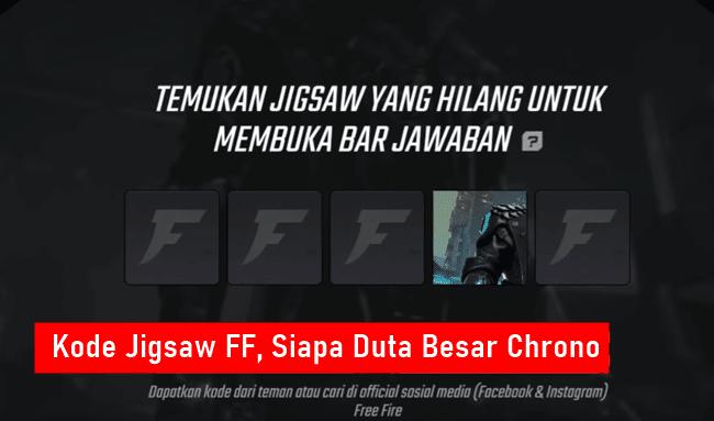 Kode Jigsaw FF Duta Besar Chrone Free Fire