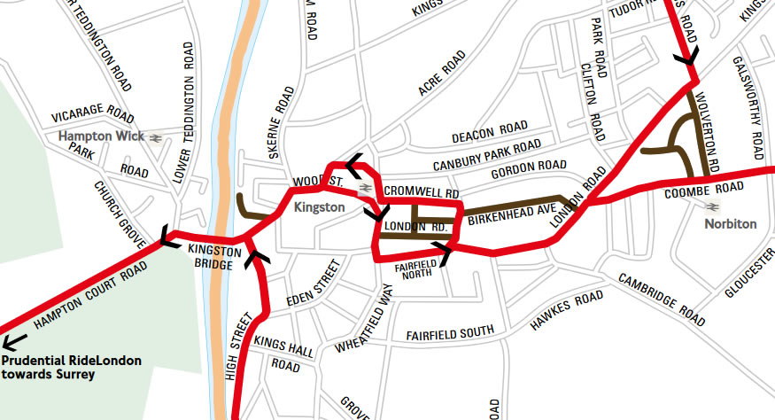 Kingston Prudential cycle route