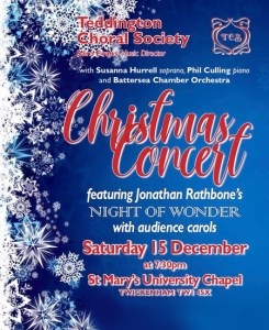 Teddington Choral Society is excited to present their Christmas Concert for 2018.