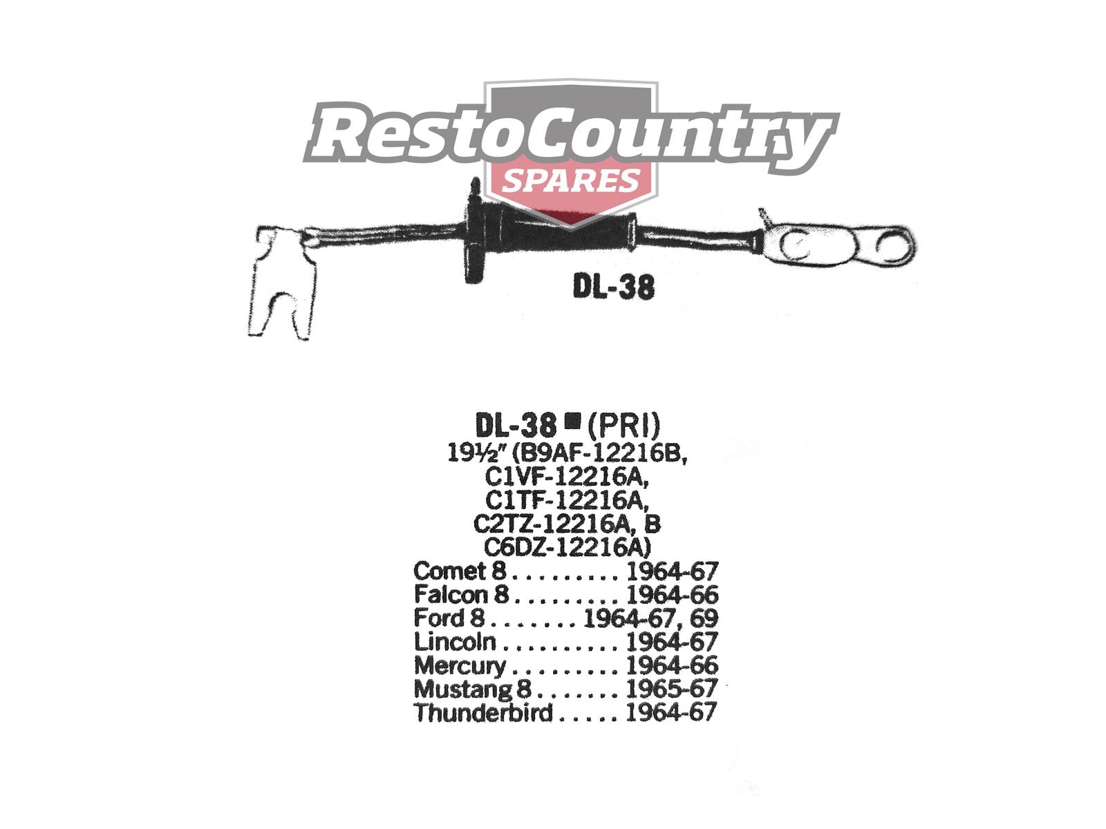 Ford Distributor Primary Lead Ignition Wire Dl 38 V8
