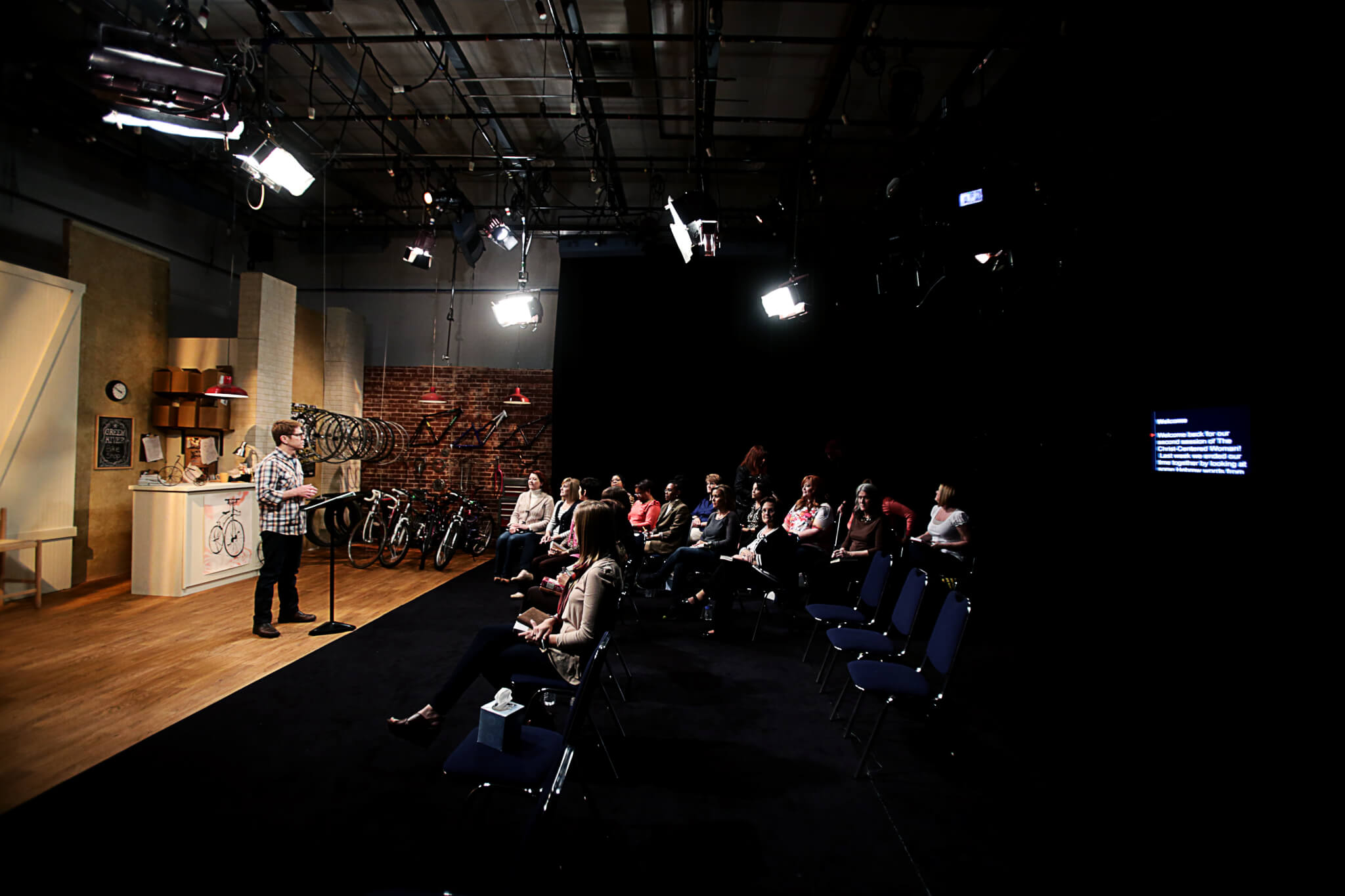 in-studio audience at Kingswood Productions