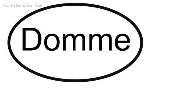 Domme Oval Vinyl Decal