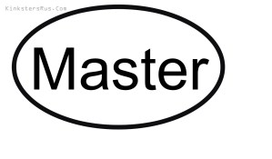 Master Oval Vinyl Decal