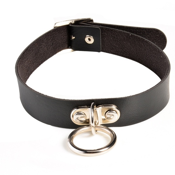 Black Collar with riveted ring