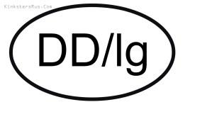 DD/lg Oval Vinyl Decal