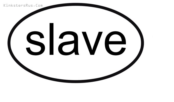 slave Oval Vinyl Decal
