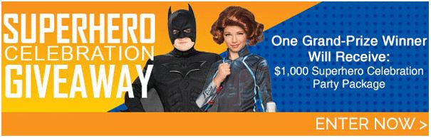 Enter the Superhero Celebration Giveaway from Birthday Express