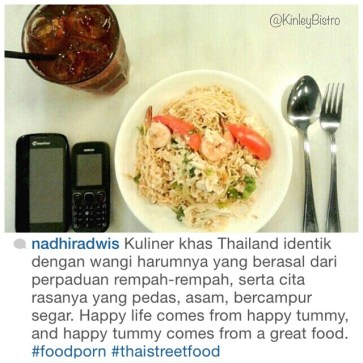 """happy life comes from happy tummy, happy tummy comes from great food"" what a great quote and we are so honored for your review @nadhiradwis"