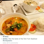 Tom Yum or Tom Kha Gai? Which is your favorite? Tom Yum without coconut, Tom Kha Gai with coconut... Both for spicy lovers... What will you be having this Chinese New Year Eve dinner? Drop by Kinley Thai Bistro anytime for your casual meals... Thank you @silv3ry for sharing our food