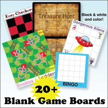 Blank Game Boards Bundle Donald's English Classroom