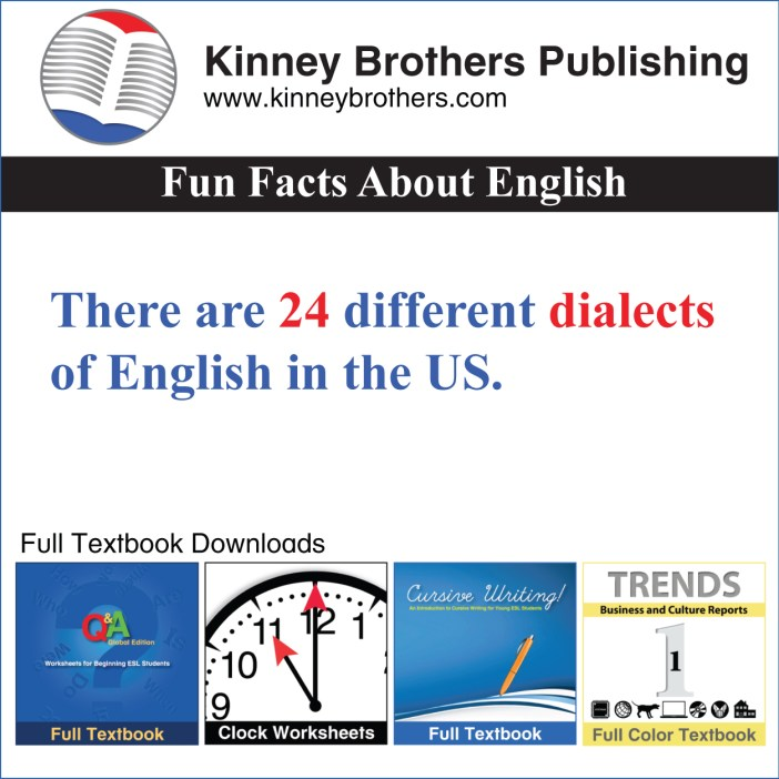 Kinney Brothers Publishing Fun Facts About English 14