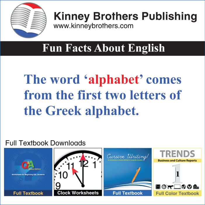 Fun Facts About English 39  Kinney Brothers Publishing