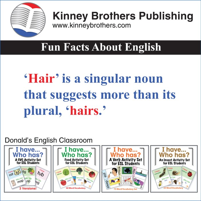 Fun Facts About English 53 Kinney Brothers Publishing