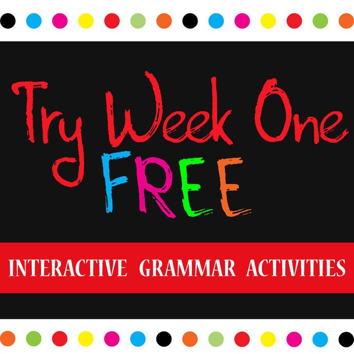 Unique Scrap Designs Freebie Interactive Grammar Activities Kinney Brothers Publishing