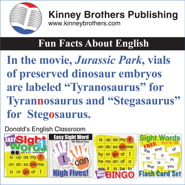 Fun Facts About English 65 Kinney Brothers Publishing