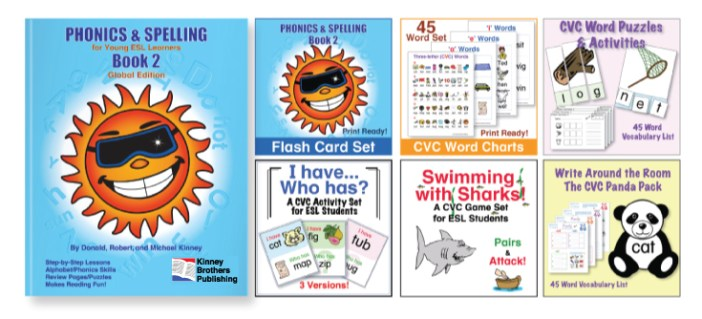 Phonics and Spelling, Book 2  Kinney Brothers Publishing