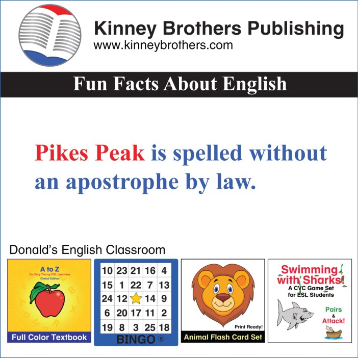 Kinney Brothers Publishing Pikes Peak