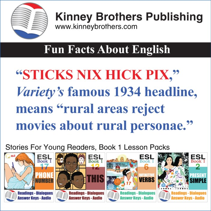 Kinney Brothers Publishing Fun Facts About English Headlines