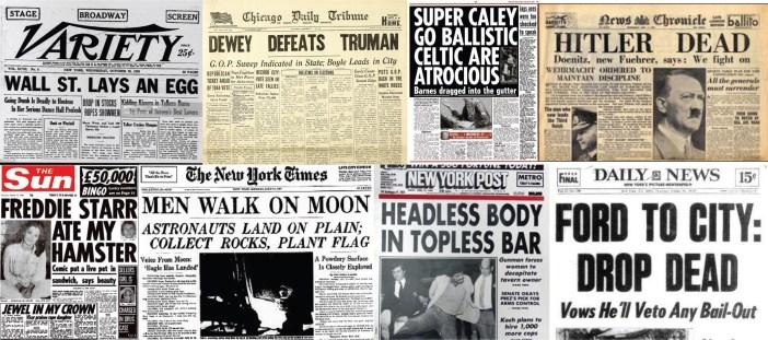 Kinney Brothers Publishing Famous Headlines
