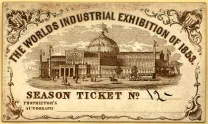 World Industrial Exhibition Ticket Kinney Brothers Publishing