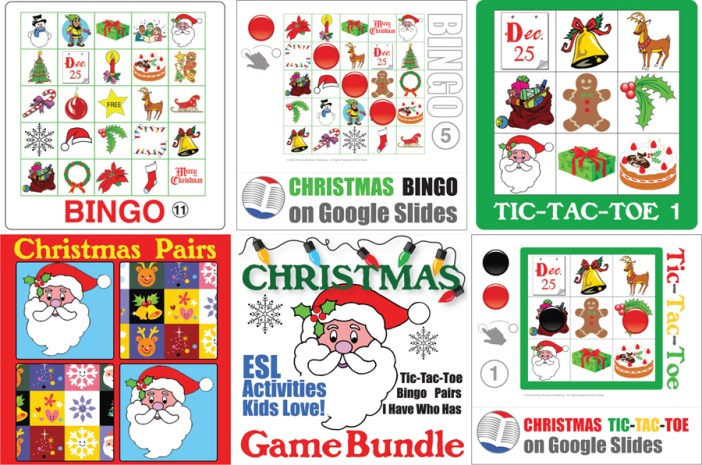 Donald's English Classroom Christmas games