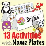 13 Name Plate Activities Kinney Brothers Publishing