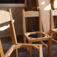 イチョウ無垢手づくり椅子