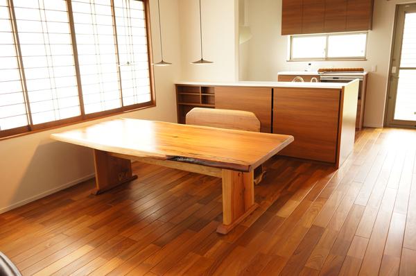 杉一枚板ダイニングテーブル