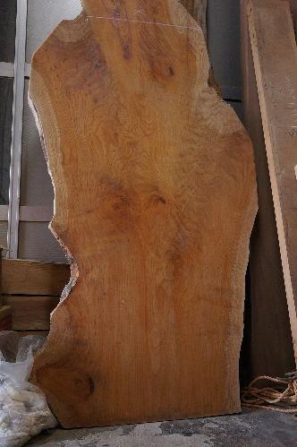 ケヤキ変形一枚板テーブル天板