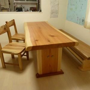 天然木一枚板ダイニングテーブル