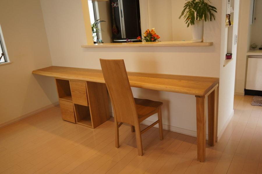天然木一枚板カウンターテーブル