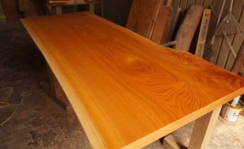 ケヤキ無垢一枚板テーブル