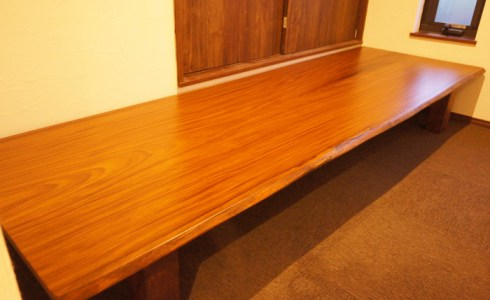 一枚板書斎テーブル