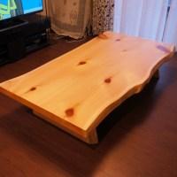 ヒノキ天然木テーブル