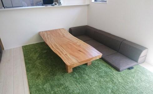 栃の木一枚板テーブル