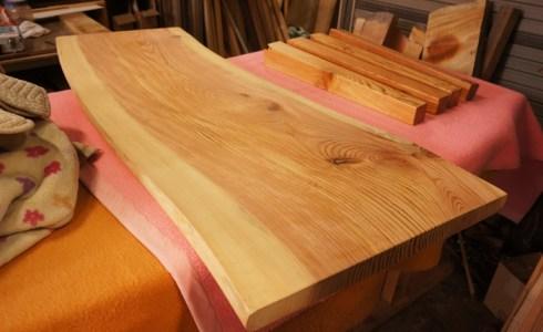 松一枚板テーブル